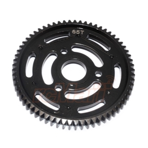 YT065TS-BK GPM Steel #45 Spur Gear 32 Pitch 65T 1 pc Black For Axial Yeti Yeti XL