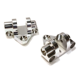 OBM25506SILVER CNC Machined Alloy HD Lower Link Mount (2) for Axial Yeti XL