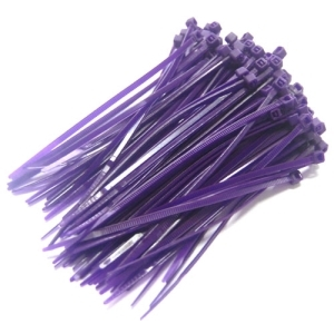 UP-24545PU Color Cable Tie 10cm - 100개 (Purple)