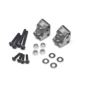 BR955012GM Aluminum Link Mounts for SCX10 II (2) Gun Metal