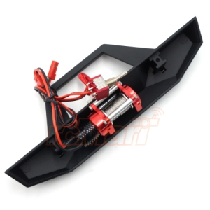XS-59815 Xtra Speed Heavy-Duty Alloy Bumper w/ CNC Winch For SCX10 II TRX-4 CFX CMX