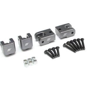 BR979010GM Aluminum Upper & Lower Track Rod Mounts (4) Gun Metal (LOS234002)