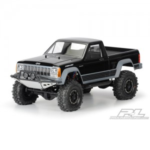 "AP3362 JEEP Comanche Full Bed Clear Body for 12.3"" (313mm) Wheelbase Scale Crawlers"