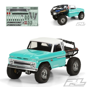 AP3483-01 1966 Chevrolet C-10 Clear Body (Cab Only) for SCX10 Trail Honcho 12.3 (313mm) Wheelbase