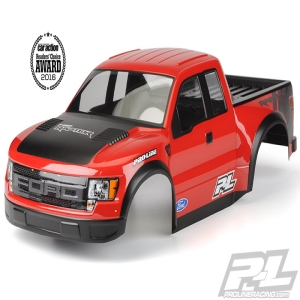 Pre-Painted/Pre-Cut True Scale Ford F-150 Raptor SVT Body for PRO-2 SC, 2WD/4x4 Slash, SC10 (Requires Pro-Line Extended Body Mount Kit, Sold Separately)