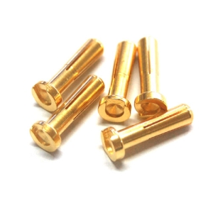 UP-AM1003G-5 Low Height Euro 4mm Gold Connector Male 5PCS