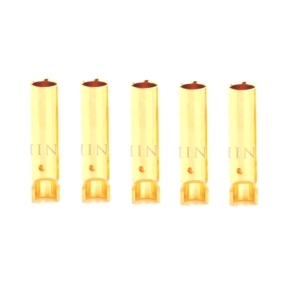 UP-AM1003E-F5 4mm Gold Banana Connector Female (5pcs)