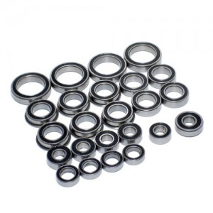 [ETTBBZ] High Performance Full Ball Bearings Set Rubber Sealed (24Total)