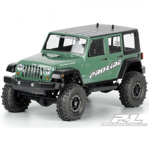 "AP3336 Jeep Wrangler Unlimited Rubicon Clear Body for 12.3"" Wheelbase 1:10 Scale Crawlers"
