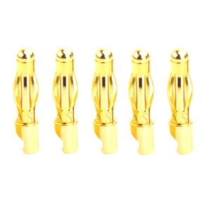 UP-AM1003E-M5 4mm Gold Banana Connector Male (5pcs)