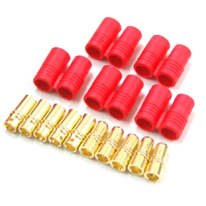 UP-HXT60-2 HXT 6mm Gold Connector w/ Protector (5pcs)