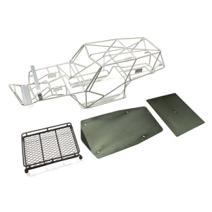 Realistic Steel Roll Cage Body w/ Luggage Tray for Axial Wraith (Silver)