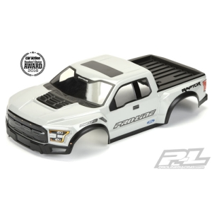 AP3461-14 Pre-Painted / Pre-Cut 2017 Ford F-150 Raptor True Scale Body (Gray) for PRO-2 SC, Slash, Slash 4X4, SC10 (Requires Pro-Line Extended Body Mount Kit, Sold Separately)