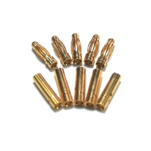 UP-AM10025B 2.5mm Gold Connector 5Pairs