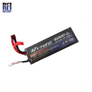 LI-PO 2CELLS 7.4V HARD CASE 6,000mAh 40-80C BATTERY
