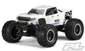 [AP3513-17] Pro-Line Bash Armor Pre-Cut Monster Truck Body (White) (X-Maxx) - 완성바디
