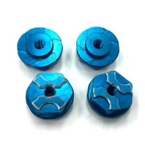 New SAVAGE용 FLANGED LOCK NUT (Blue / 4pcs)
