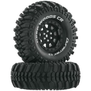"Duratrax Deep Woods CR C3 Mntd 1.9"" Crawler Black (2)"