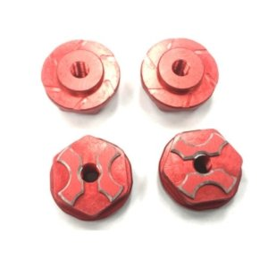 New SAVAGE용 FLANGED LOCK NUT (Red/ 4pcs)
