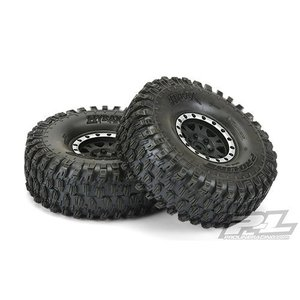 "[AP10128-13] Pro-Line Hyrax 1.9"" Tires w/Impulse Wheels (Black/Silver) (2) (G8) - 12mm Hex 타입"