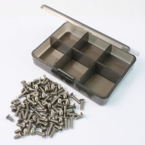 [TS-TT01/D] Titanium Screw Assorted Set with FREE Mini Box for Tamiya TT01 / TT01D