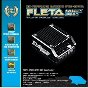 [ME-FLSB] FLETA Stock Spec Brushless ESC Blue