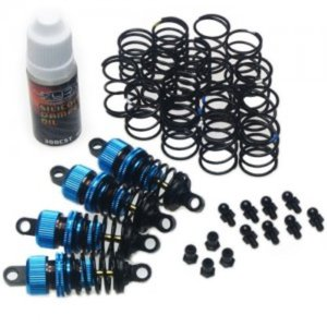 [DSG-0055BU] Yeah Racing Shock-Gear 55mm Damper Set for 1/10 RC Touring Car Blue