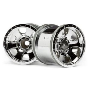 WARLOCK WHEEL CHROME (2.2in/2pcs) Savage XS,Wheely King 4X4