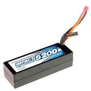 [MLI-4SLCG5200FD2] IMPACT Linear LCG FD2 Li-Po Battery 5200mAh/14.8V 110C 36mm Height Wire Hard Case