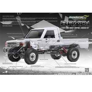 [BR8002] Boom Racing 1/10 4WD Radio Control Chassis Kit w/ Killerbody LC70 Hard Body Kit Set