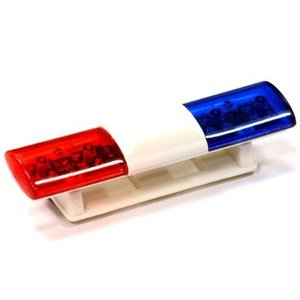 T3 Realistic Roof Top Flashing Light LED with Plastic Housing for 1/10 Scale C24482BLUERED