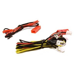 LED Light 4pcs w/ Extended Wire Harness to Receiver or 6VDC Source C25869YELLOW