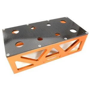 Alloy HD Composite On-Road Car Stand Workstation for 1/10 & 1/8 Size 198x98x63mm C26918ORANGE