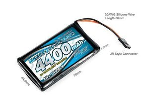 [MLI-4400MT17] IMPACT Li-Po Battery 4400mAh/3.7V 4C for SANWA M17 Transmitter