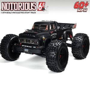 ARA106044T1 V4 ARRMA 1:8 NOTORIOUS 6S with Spektrum RTR, Black 100KM/H +