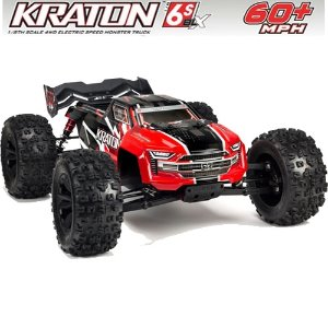 V4 ARRMA 1:8 KRATON 6S BLX 4WD Brushless Speed Monster Truck with Spektrum RTR, Red