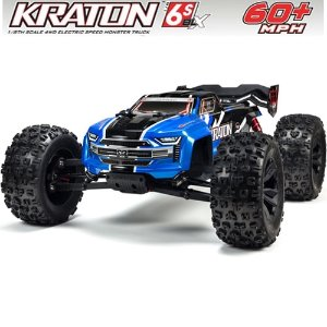 V4 ARRMA 1:8 KRATON 6S BLX 4WD Brushless Speed Monster Truck with Spektrum RTR, Blue