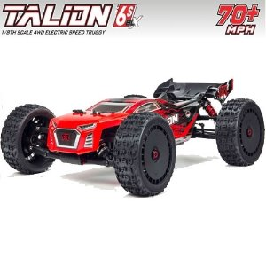 V4 ARRMA 1:8 TALION 6S BLX 4WD Brushless Sport Performance Truggy with Spektrum RTR, Red/Black