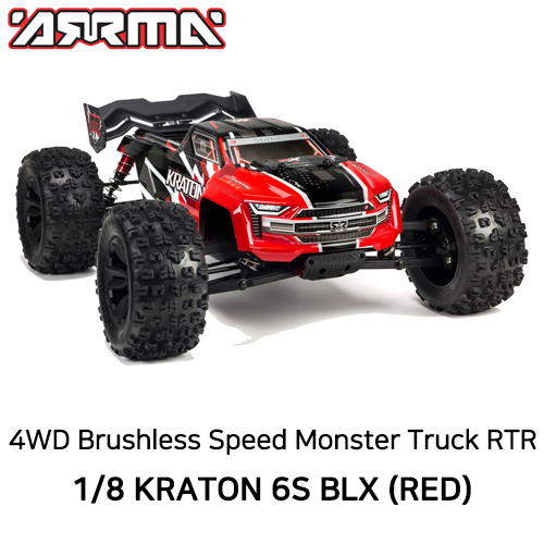 입고완료2020 V4 ARRMA 1:8 KRATON 6S BLX 4WD Brushless Speed Monster Truck with Spektrum RTR, Red