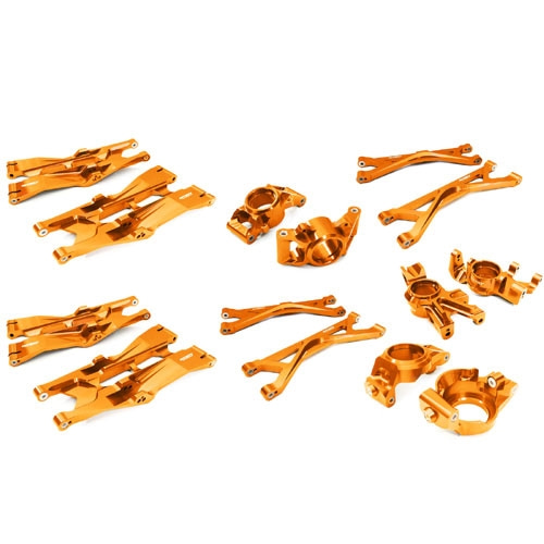 C26835ORANGE Billet Machined Suspension Conversion Kit for Traxxas X-Maxx 4X4