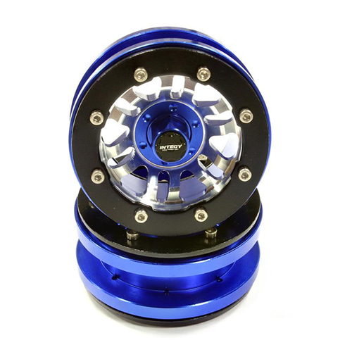 Billet Machined 6 Spoke Type 6D Off-Road Wheel Set(2) for Scale Crawler C25505BLUE│1.9 메탈 비드락휠