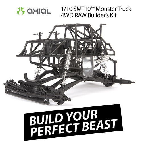 [조립형 몬스터 트럭]AXIAL 1/10 SMT10 Monster Truck Raw Builders Kit
