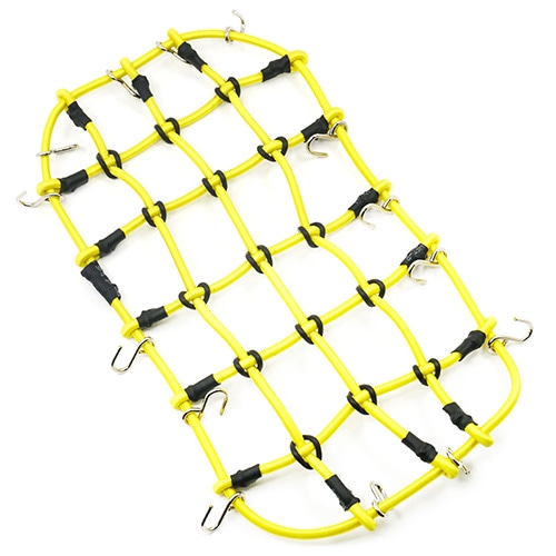 YA-0560YW 1/10 RC Crawler Scale Accessory Luggage Net 200mm x 110mm Yellow 그물망