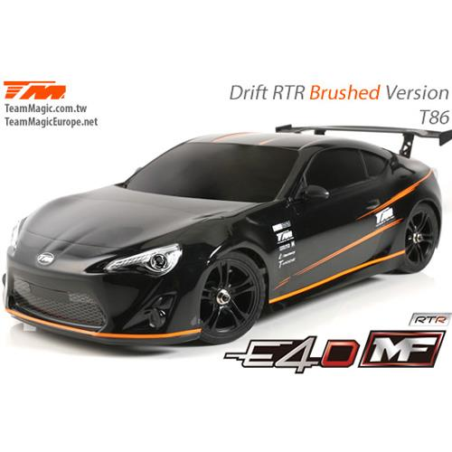 (풀 카본-RTR 전동 드리프트) 503017-86 E4D MF Drift Car Silver Ver. RTR-86