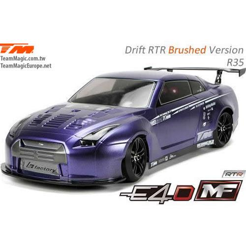(풀 카본-RTR 전동 드리프트) 503017-R35 E4D MF Drift Car Silver Ver. RTR-R35