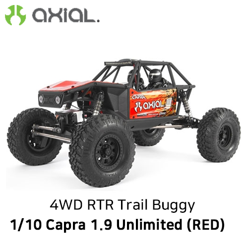 카프라 조립완료 버전) AXIAL 1/10 Capra 1.9 Unlimited 4WD RTR Trail Buggy, Red