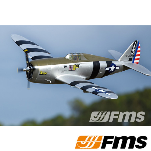 "FMS 1500mm (59.1"") P-47 Razorback Bonnie PNP RC비행기"