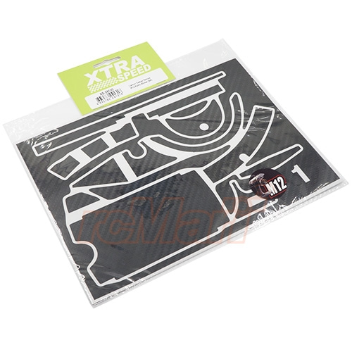 XS-59100 Xtra Speed Carbon Design Sanwa M12M12S Radio Sticker Black