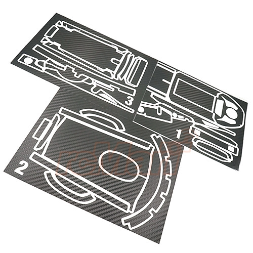 XS-59097 Xtra Speed Carbon Design Radio Sticker Black For Futaba 4PV