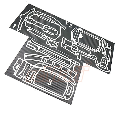 XS-59096 Xtra Speed Carbon Design Radio Sticker Black For Sanwa MT-44